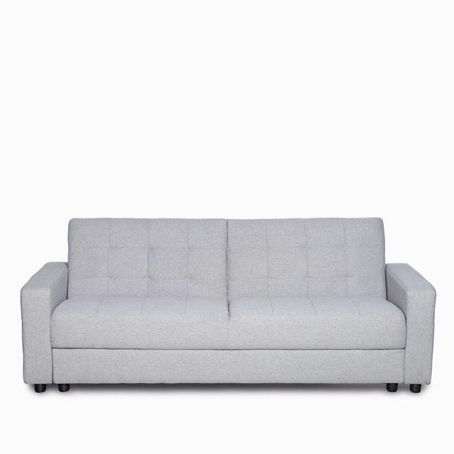 Sofacama montiel gris claro 77x193x81