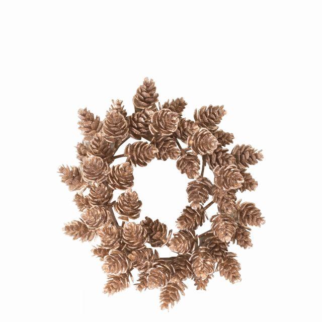 Corona pinos dorada 15 cm