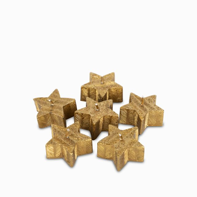 Set de velas estrellas doradas