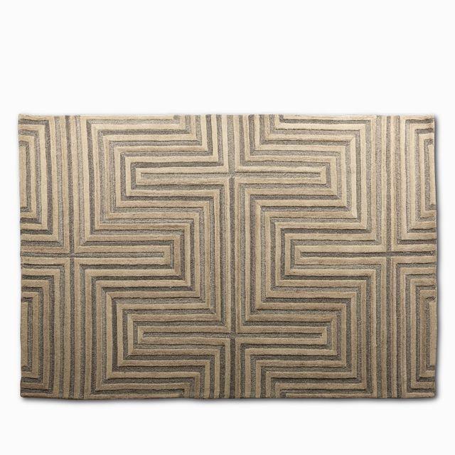 Tapete intera beige y gris 160 x 230cm