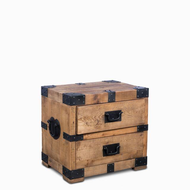 Mesa madera hierro 60x65x45 cm