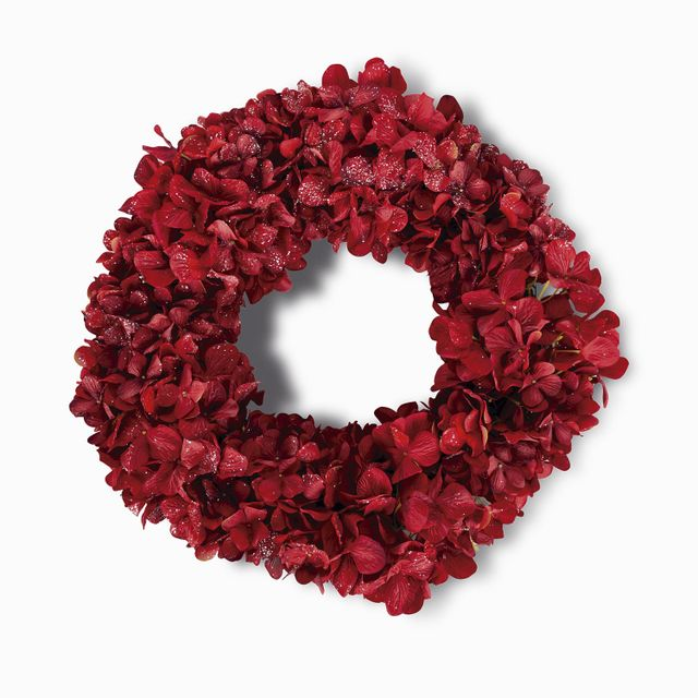 Corona hortensia roja