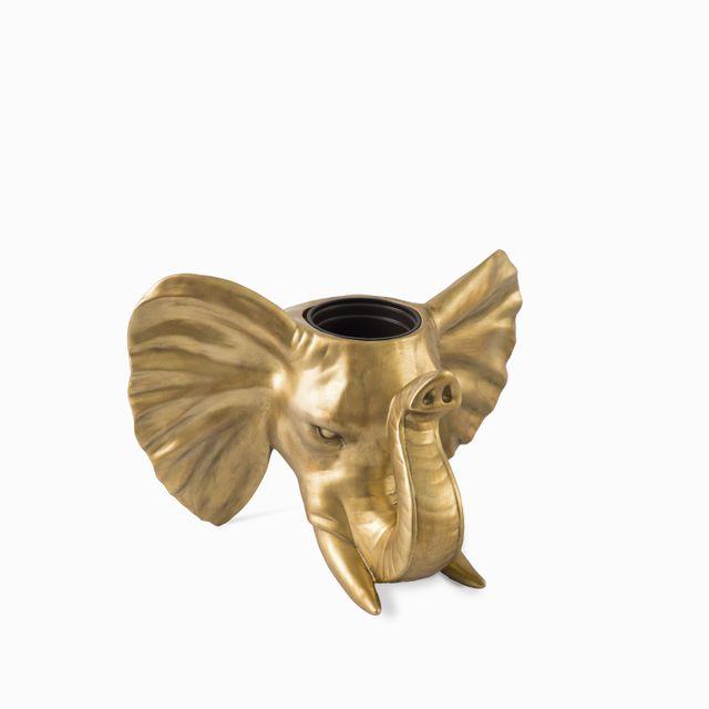 Matera de pared elefante dorada