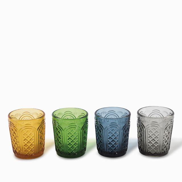 Set de 4 vasos toledo en colores