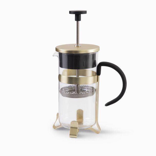 Cafetera prensadora 2 tazas dorada