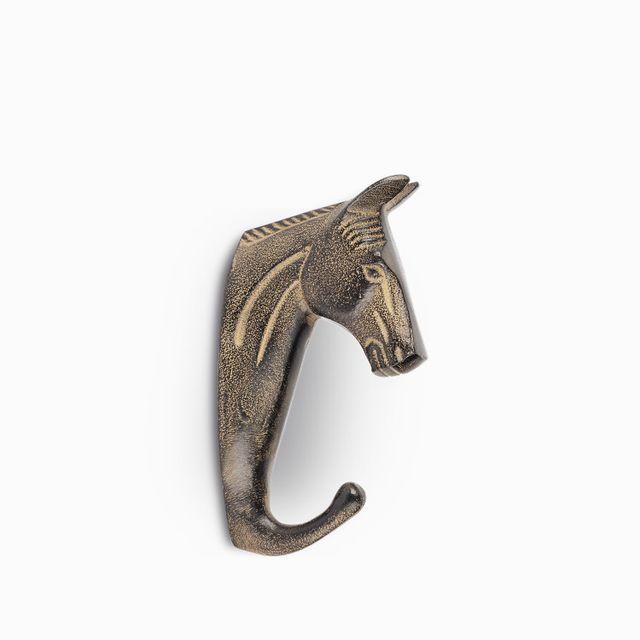 Gancho caballo negro 4x8.5x17cm