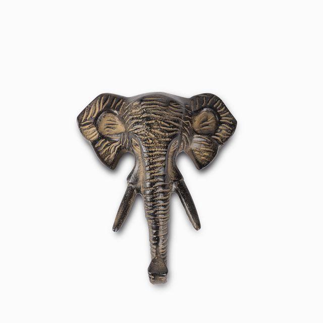 Gancho elefante negro 13.5x5x16cm