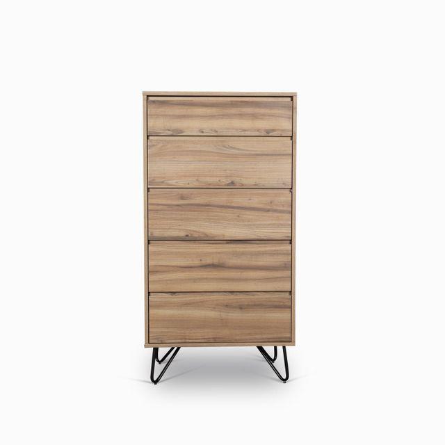 Comoda triangulo 115x60x40 madera oscura