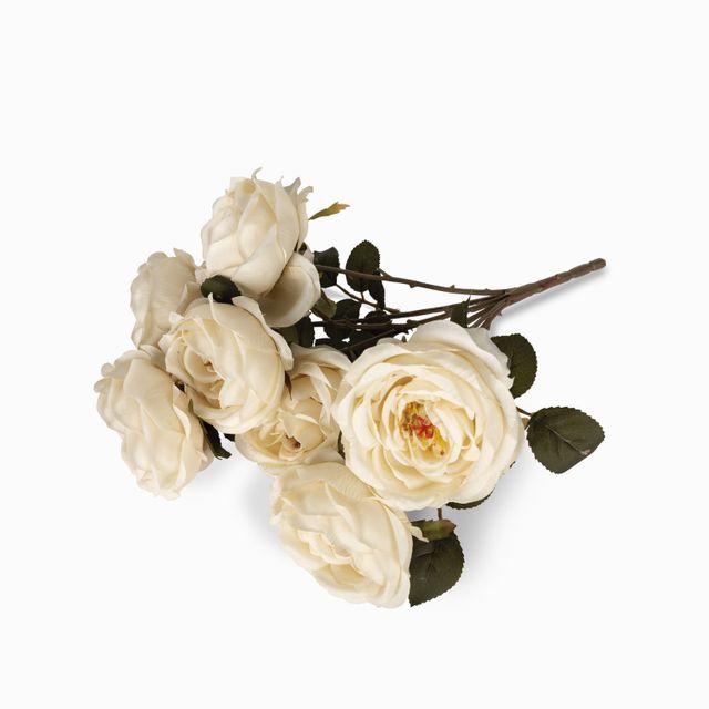 Bouquet rosas crema