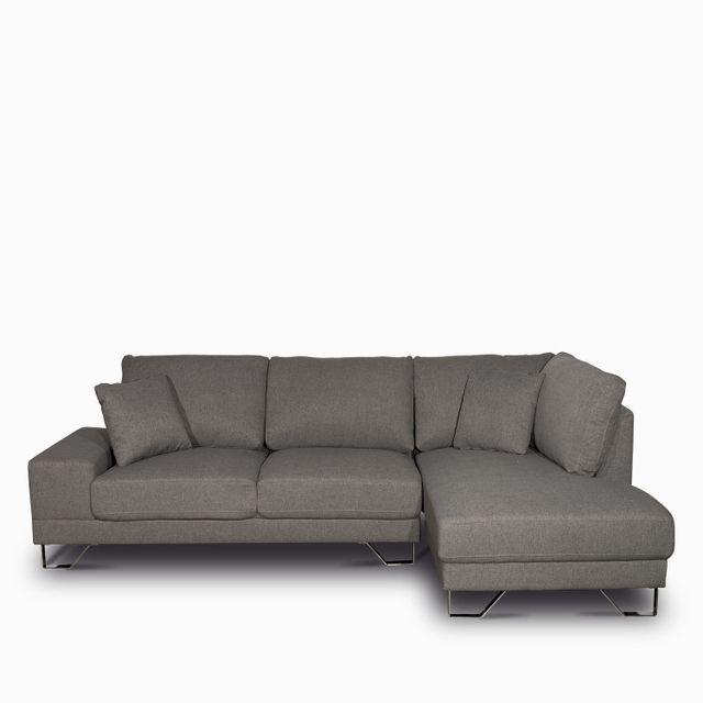Sofa en l deco derecho gris