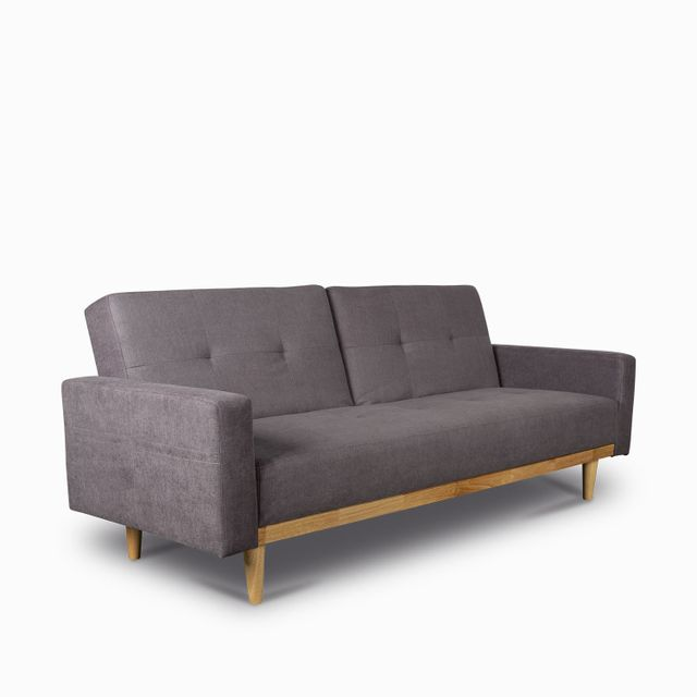 Sofacama wood gris claro 85x206x91