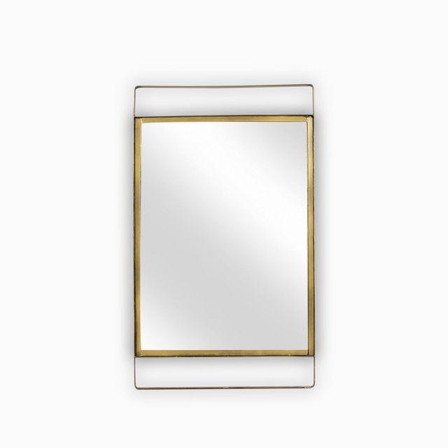 Espejo rectangular dorado 35x60cm