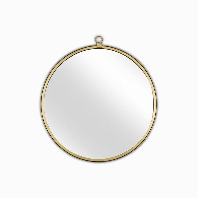 Espejo redondo dorado 56cm