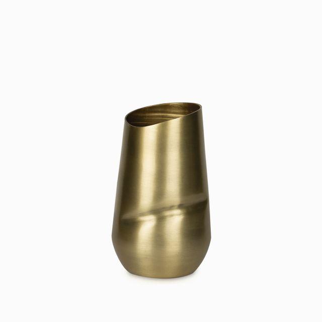 Jarron dorado arrugado 12x20cm