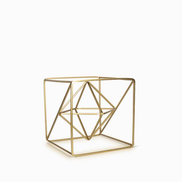 Cubo dorado 20x20cm