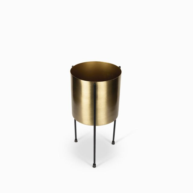 Matera dorada base negra 15x30cm