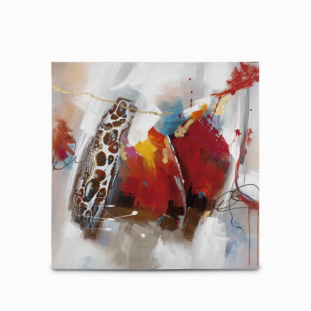 Cuadro abstracto colores 100x100x3.5