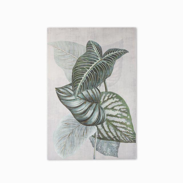 Cuadro hojas 1 verdes 120x80x3.5
