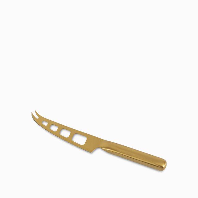 Cuchillo para queso dorado