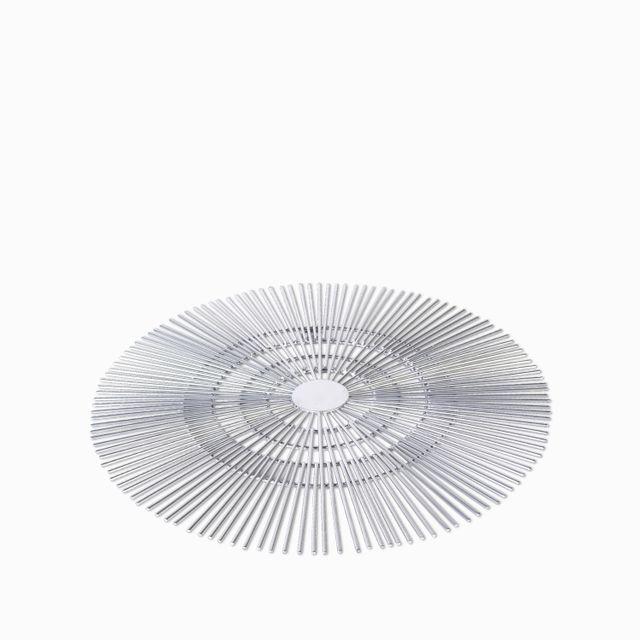 Centro de mesa soleil plateado 40.5x4.5cm