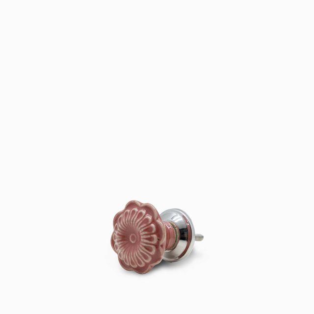 Pomo-metal-flor-rosada