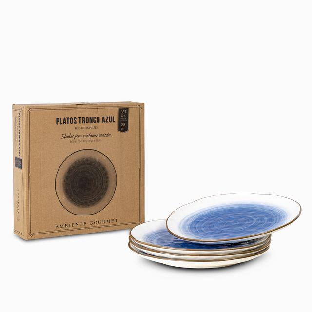 Plato-tronco-azul-28-cm-set-x-4
