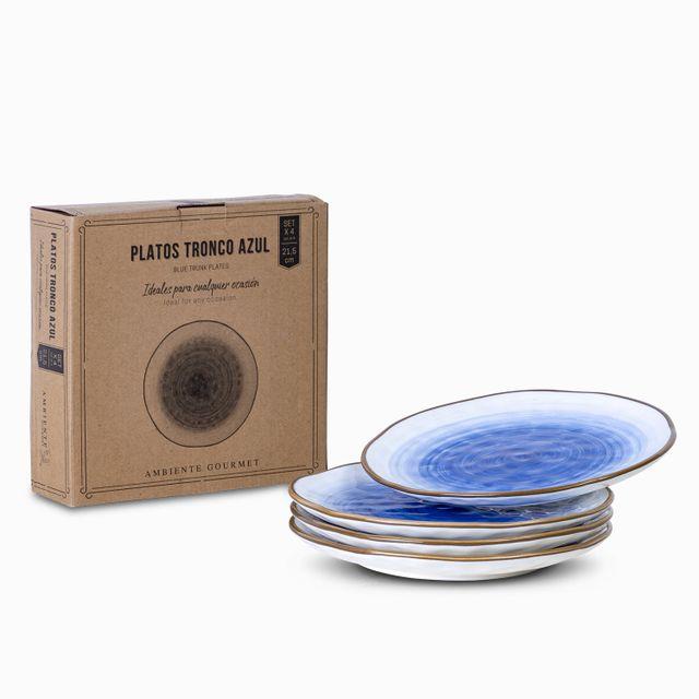 Plato-tronco-azul-21.5-cm-set-x-4