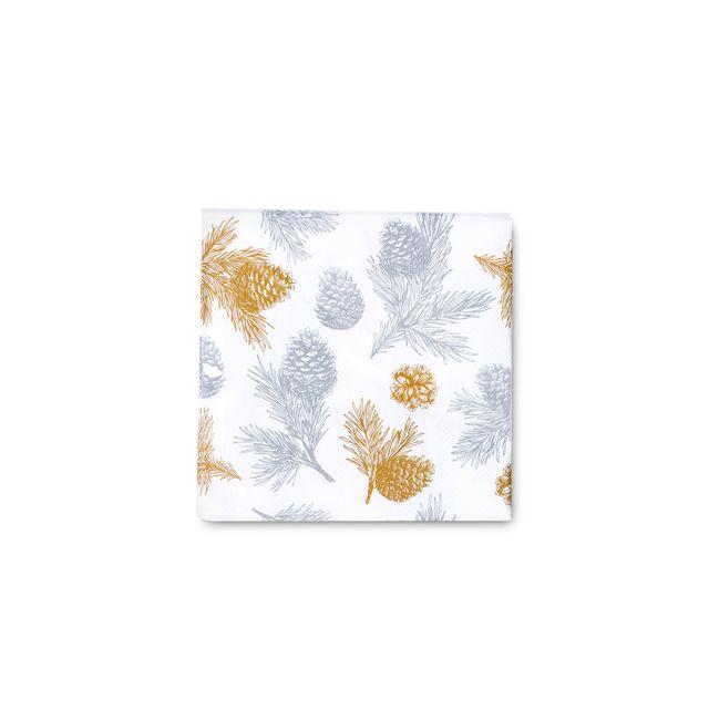 Servilleta-pinos-dorados-y-plata