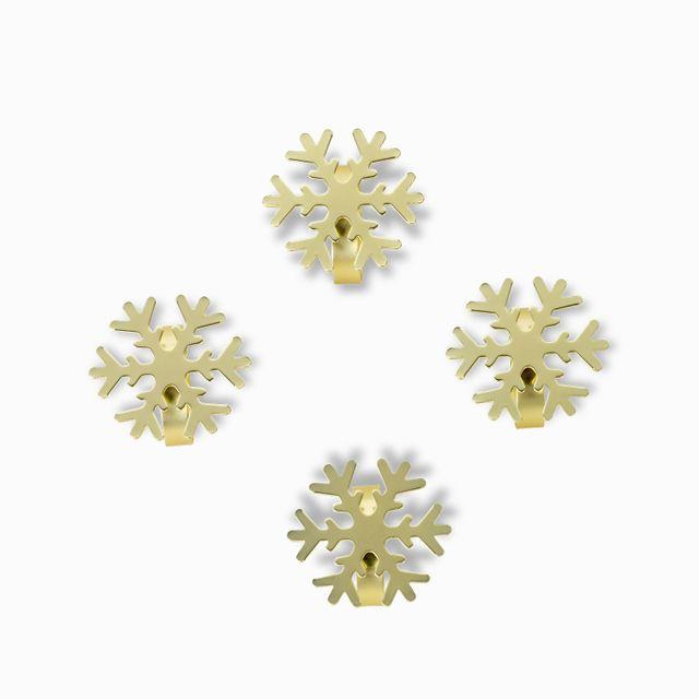 Set-aros-servilleta-snowflake-x-4
