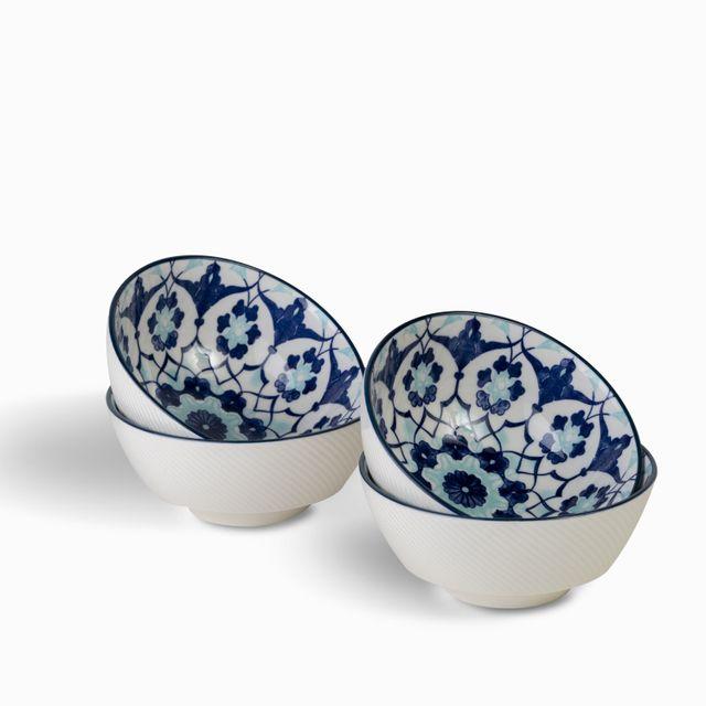 Tazon-flor-indigo-14-cm-set-x-4