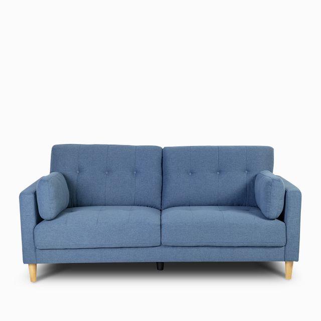 Sofa 3 pts doren azul 89x190x88