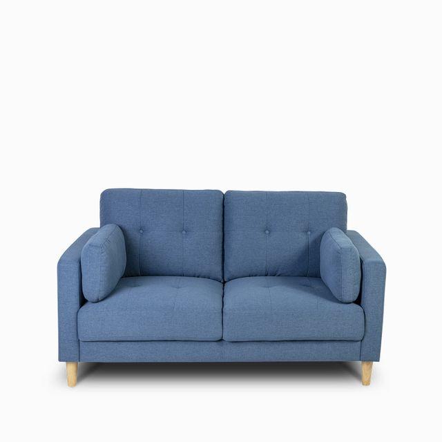Sofa 2 pts doren azul 89x154x88