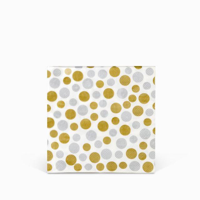 Servilletas-puntos-plateado-y-dorado