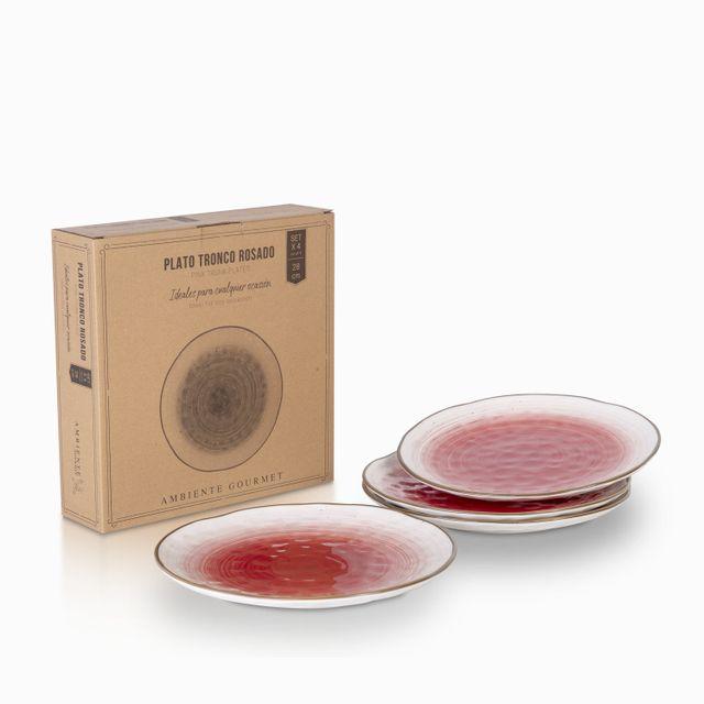 Plato-tronco-rosado-28-cm-set-x-4