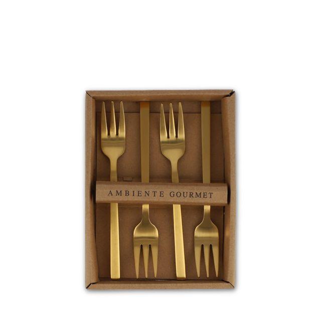 Tenedores-postre-dorado-mate-set-x-4