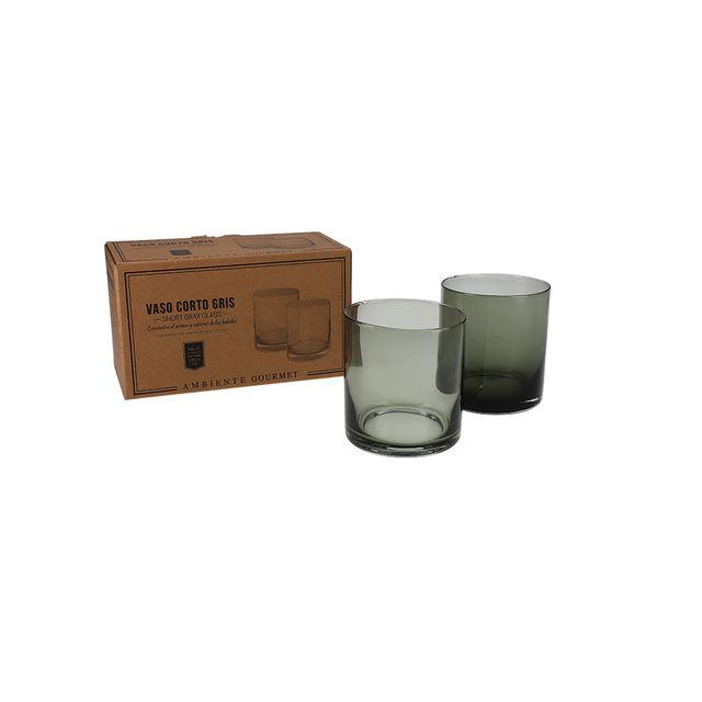 Vaso-corto-gris-set-x-2