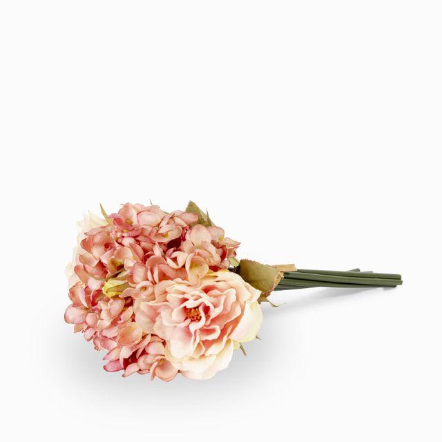 Bouquet-rosa-hortensia