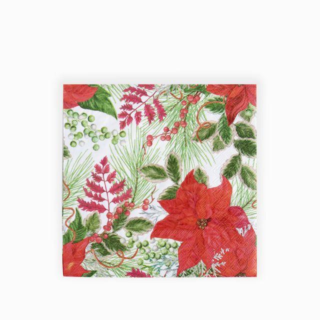 Servilletas-ponsettias-rojas-y-hojas