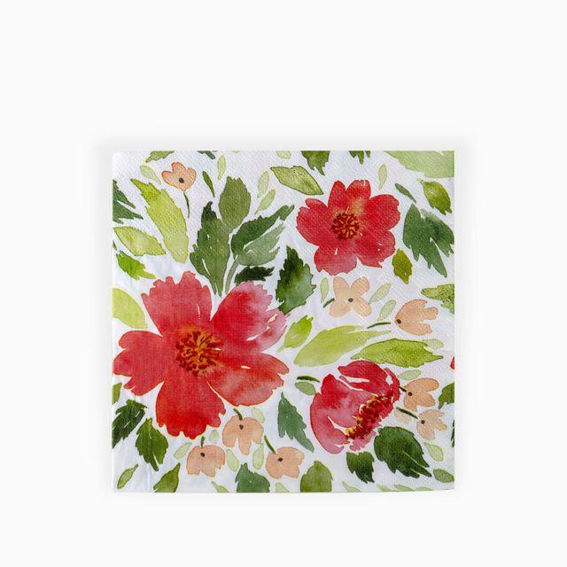 Servilletas-flores-rojas