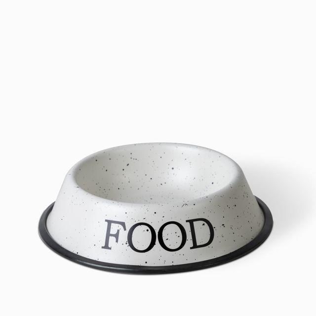 Tazon-para-mascota-food-granito-blanco
